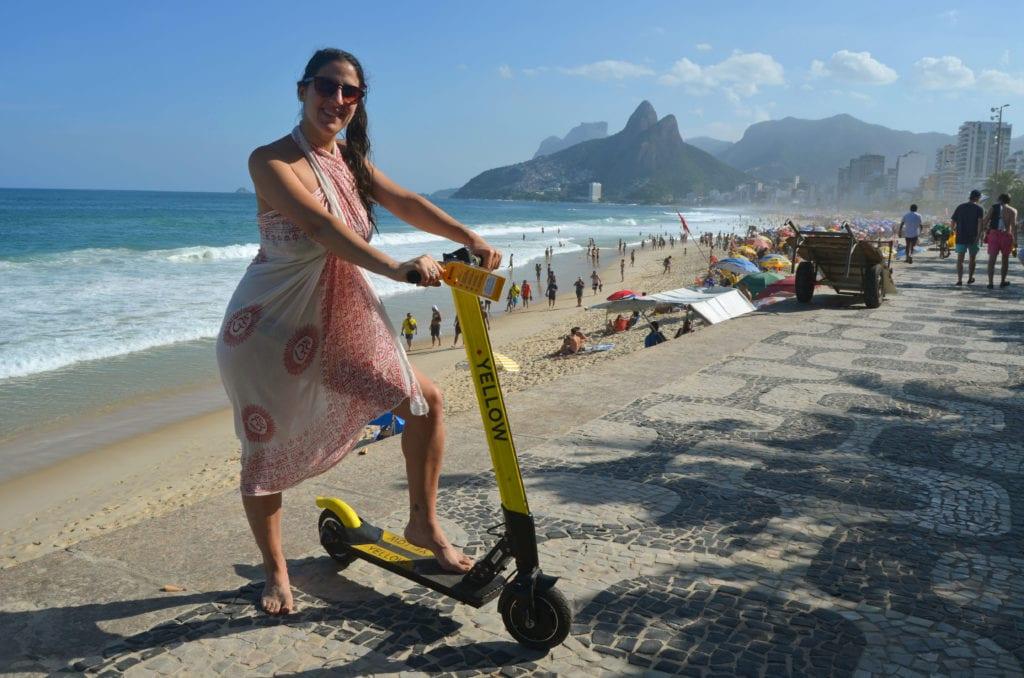Rio a jeho pláže hravě projedeš i na koloběžce