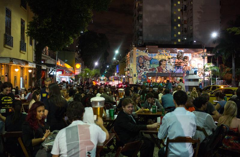 Večerní Rio v Lapě ožívá
