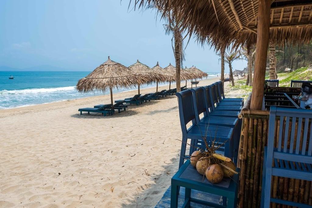 Pláž u hotelu Sol An Bang Beach Resort.