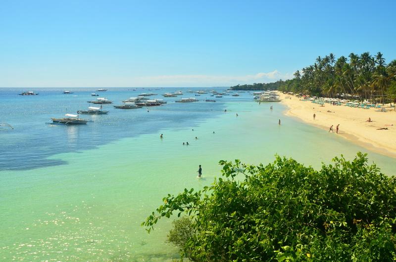 Alona Beach na ostrově Bohol