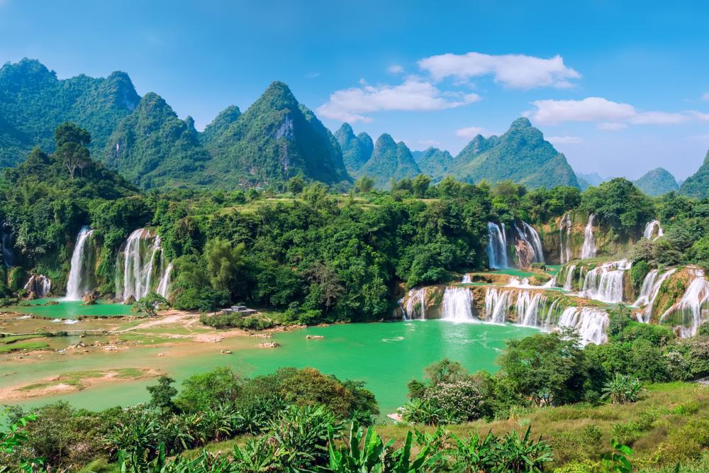 Nádherný vodopád Ban Gioc