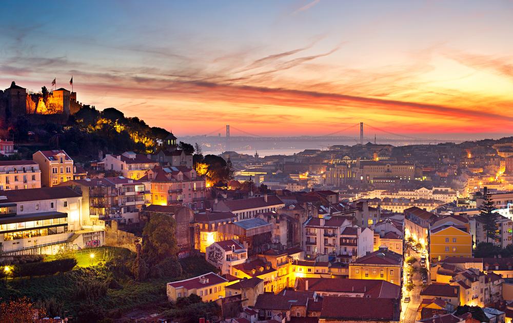 Panorama Lisabonu.