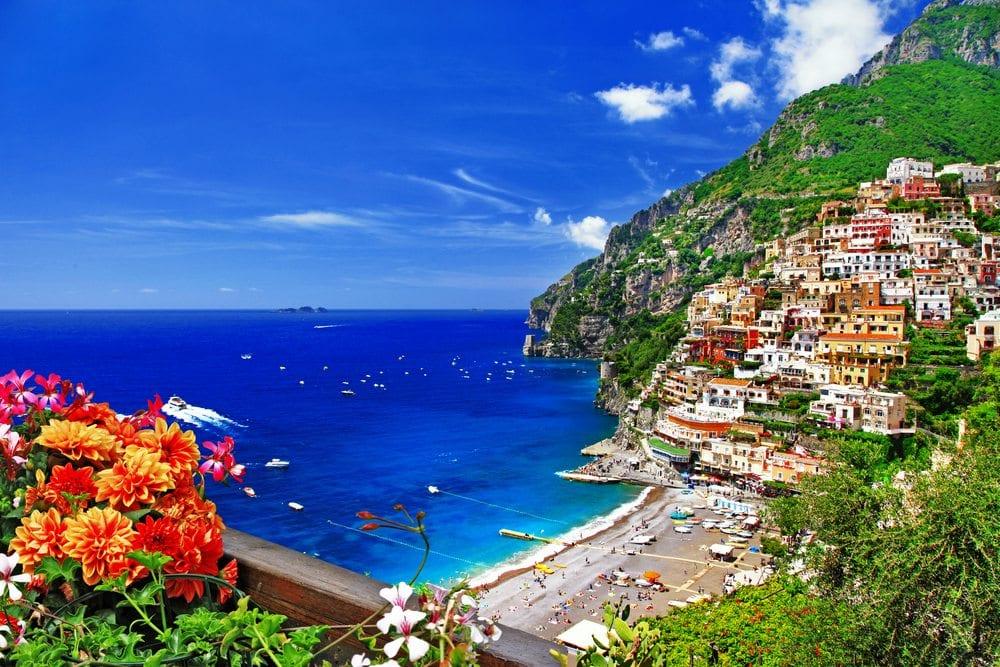 Pláž v Amalfi