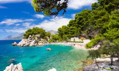 Pláž v Chorvatsku, výhled