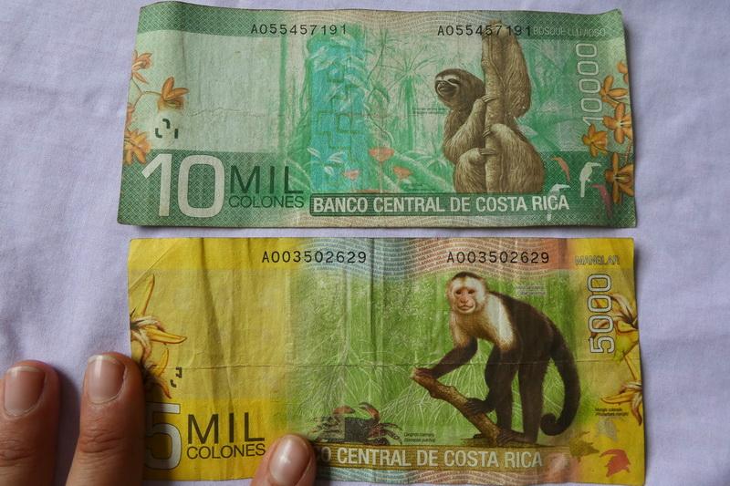 Kostarika - peníze
