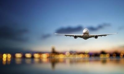 Letadlo při přistávání