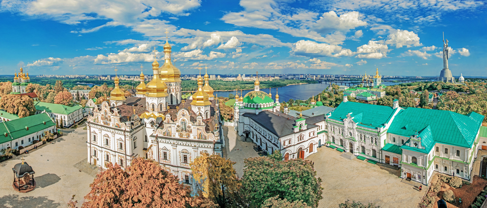 Zlaté věže Kyjeva