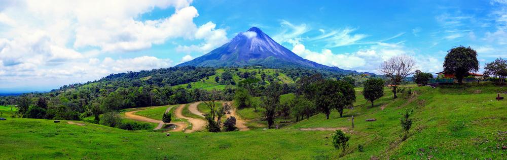 Krásná sopka Arenal