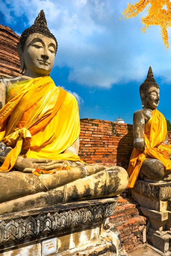 Sochy Buddhy v Thajsku