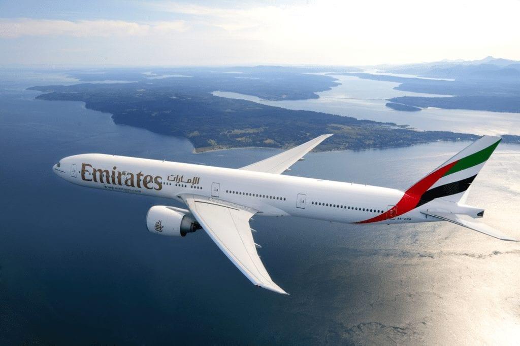 Letadlo společnosti Emirates