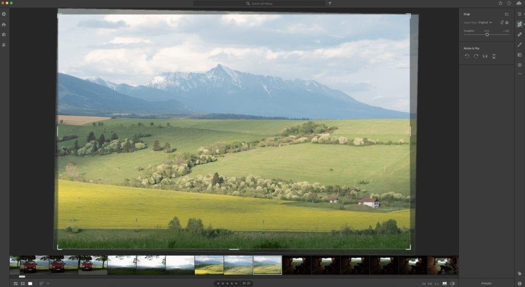 Úprava fotky - ořez a srovnání horizontu