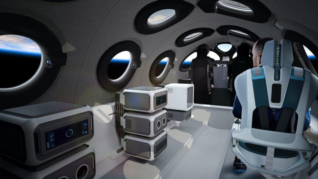 Fotka virtuální kabiny vesmírného letadla