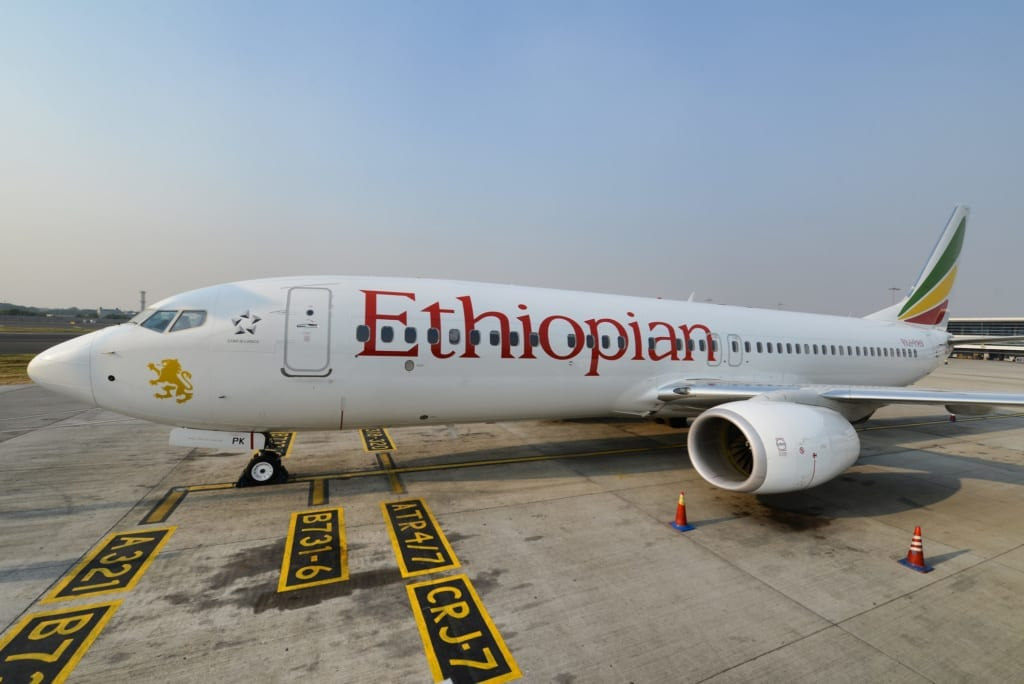 Letadlo letecké společnosti Ethiopian Airlines