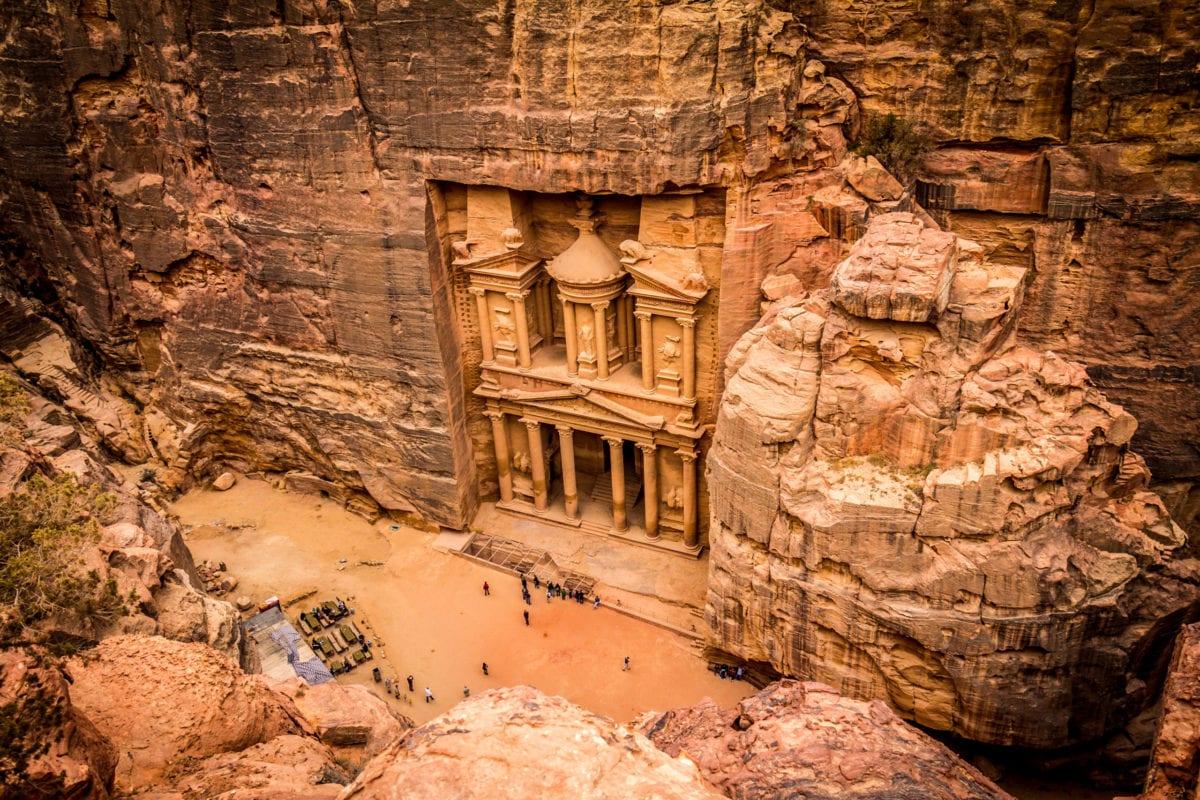 Skalní chrám Petra v Jordánsku