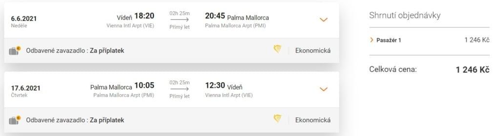 Akční termín letenky na Mallorcu, léto 2021