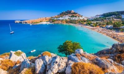 Pláž na ostrově Rhodos v Řecku