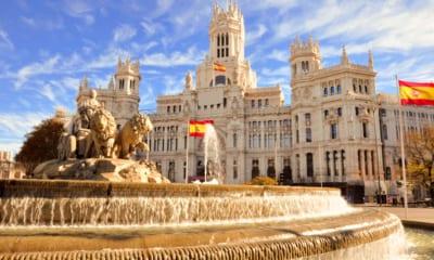Fontána Cibeles v Madridu, Španělsko