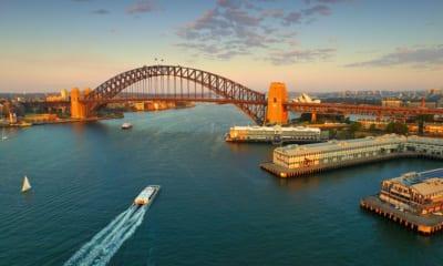 Panorama města Sydney v Austrálii