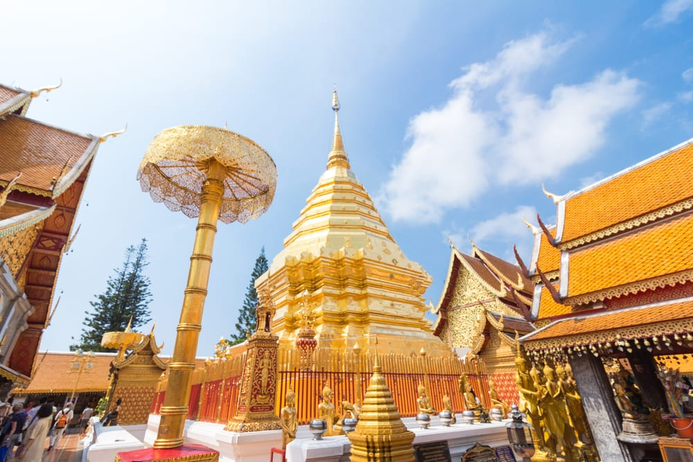 Chrámy v Chiang Mai v Thajsku