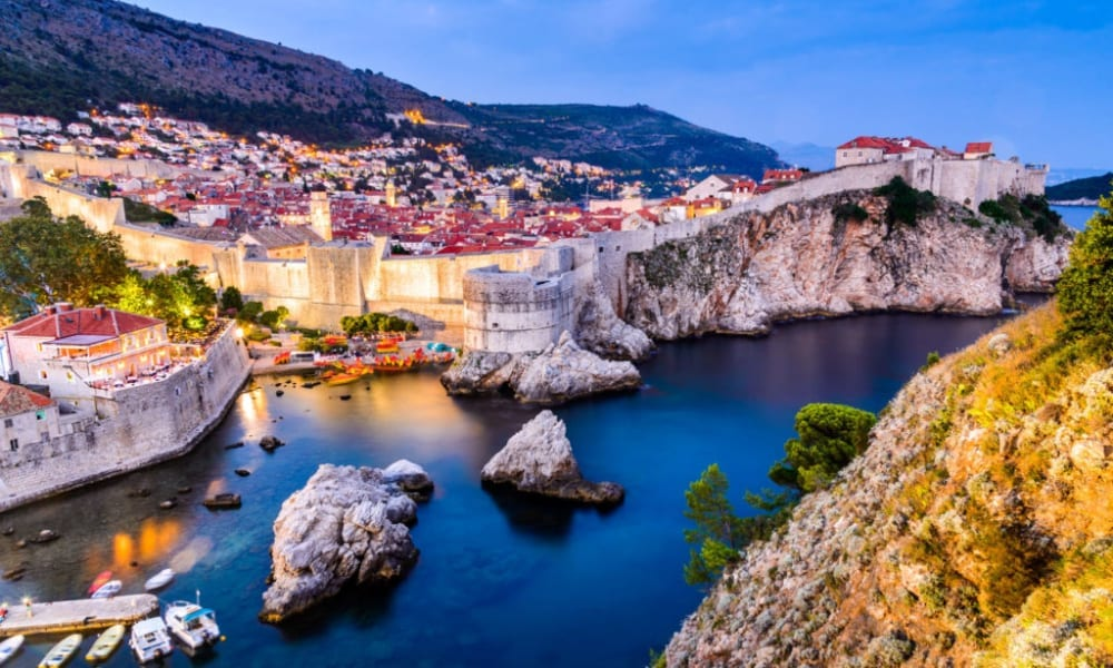 Město Dubrovnik v Chorvatsku