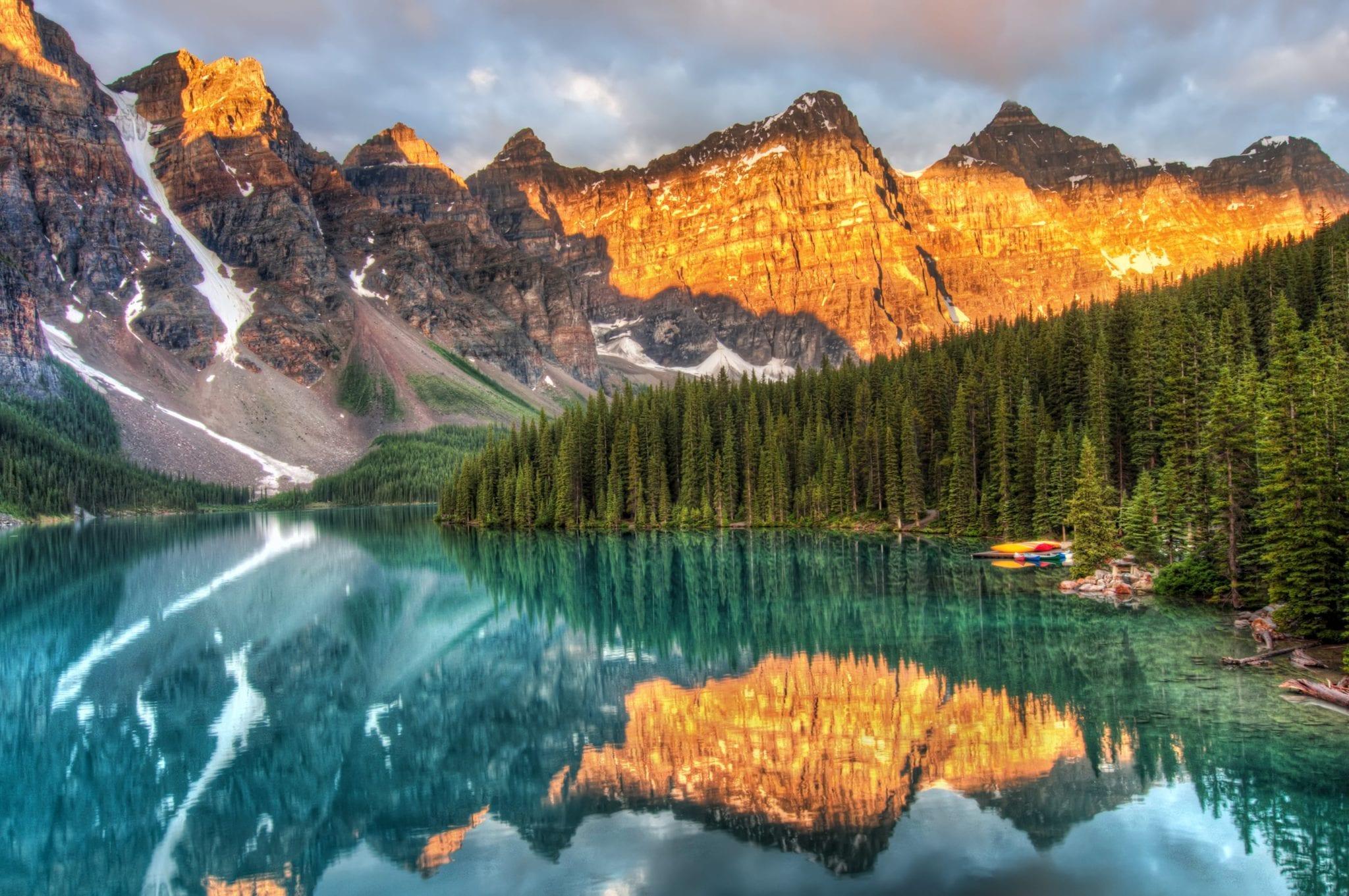 Kanadské jezero Banff
