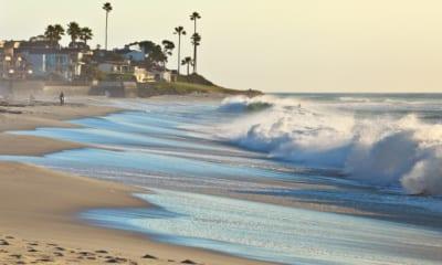Pláž v Kalifornii v USA