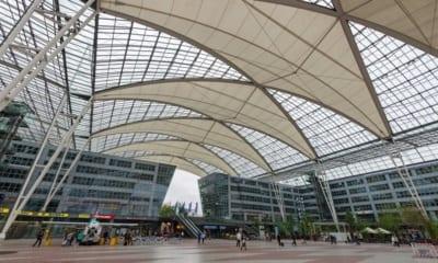 Letištní hala v Mnichově