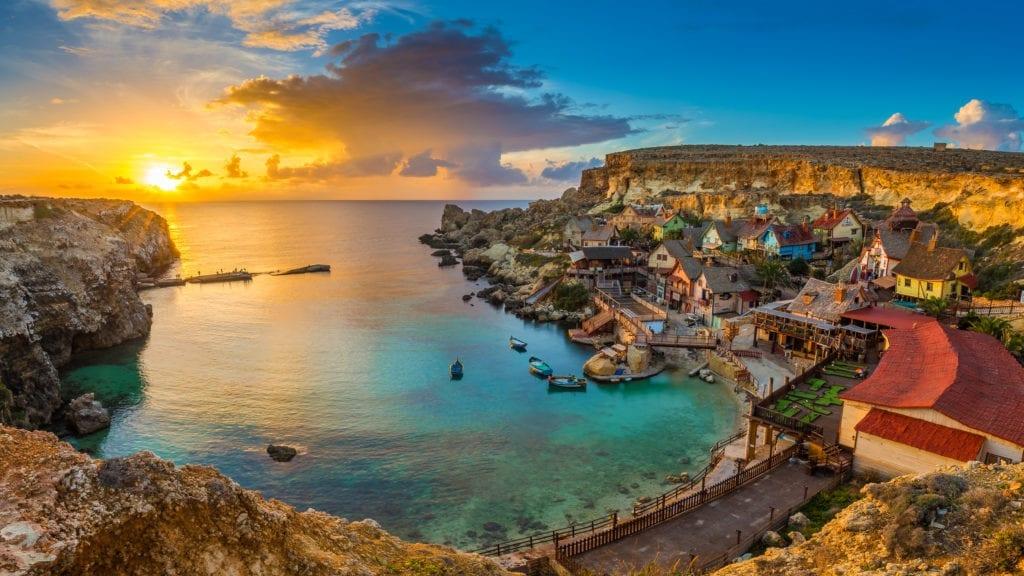 pláž na Maltě