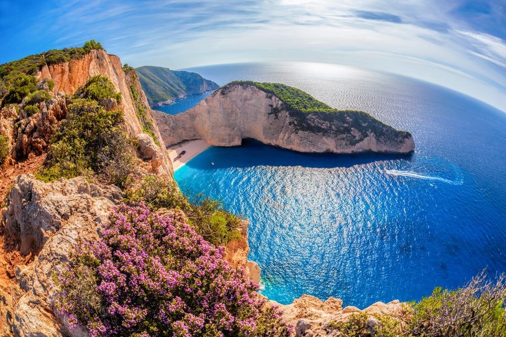 pláž se ztroskotanou lodí, Řecko, Zakynthos