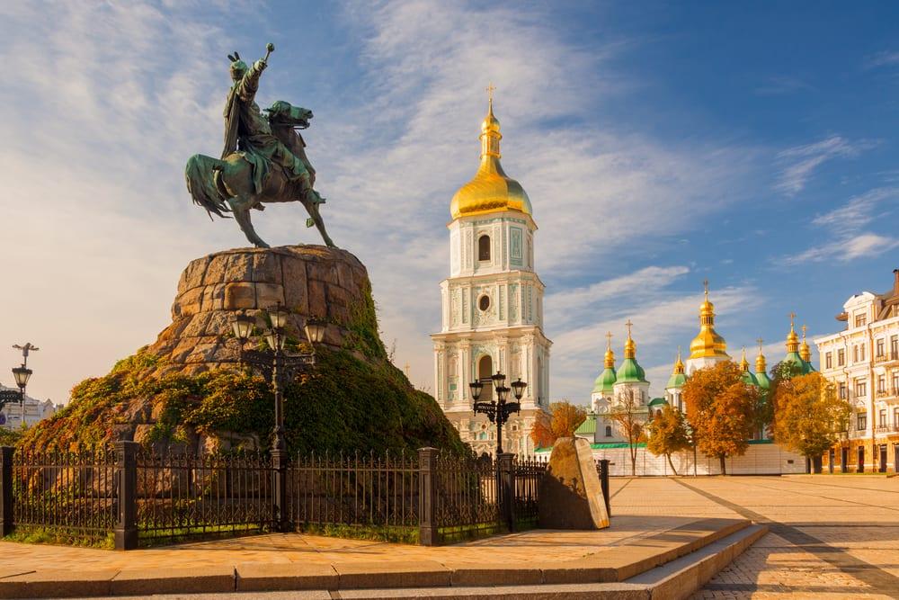Podzimní Kyjev na Ukrajině