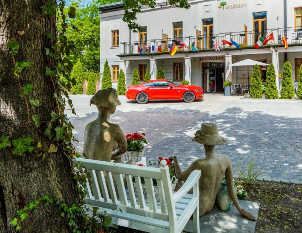 3* Art hotel Graden Residence v Polském Krakově, exteriér