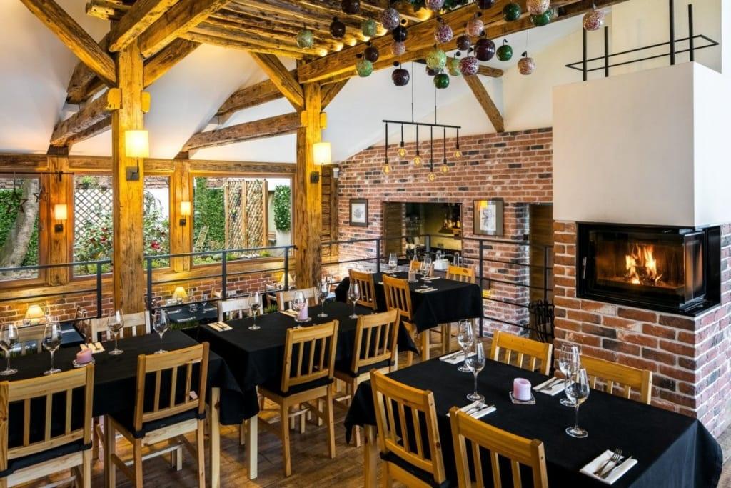 Restaurace v 3* Art Garden Residence hotelu v Krakowě