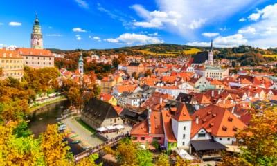 Český Krumlov v Jižních Čechách