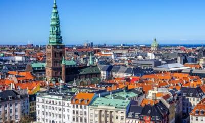 Panorama města Kodaň v Dánsku