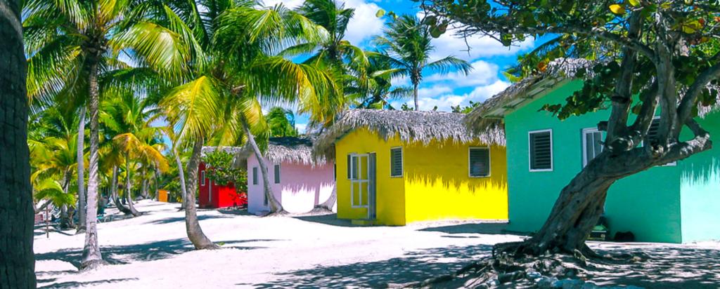 Plážové chatky v Dominikánské republice