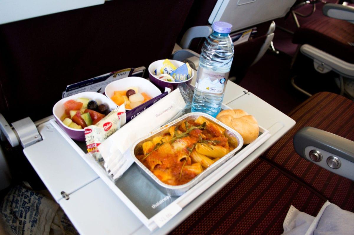 Hlavní chod v letadlech Thai Airways