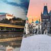 Výhled na Bratislavský hrad a Karlův most