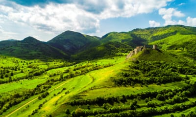 Pevnost Coltesti v Transylvánii v Rumunsku