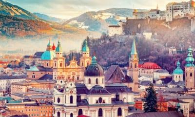 Město Salzburg v Rakousku