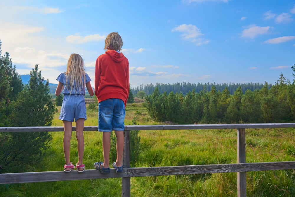 Děti v Národním parku Šumava