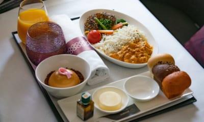 Veganské menu v Qatar Airways