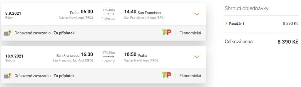 Letenky do San Francisca s TAP