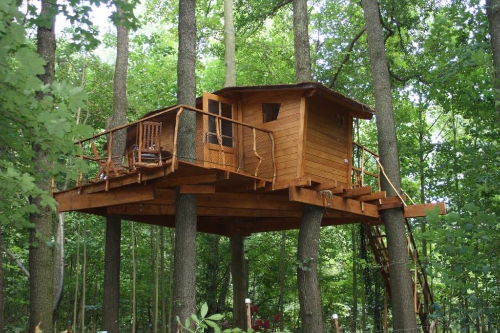 Dovolená v Treehouse v Brdech