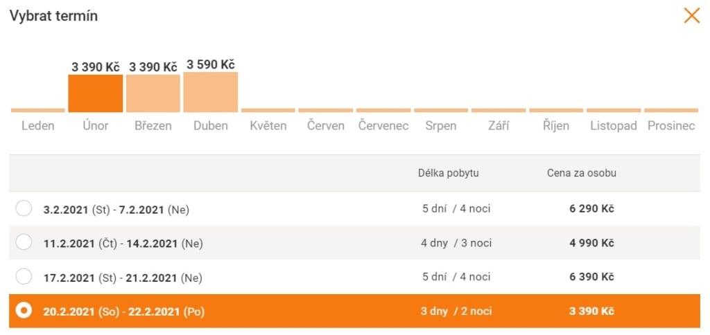 Akční termíny dovolené v Adults only hotelu Ondrášův dvůr v Beskydech