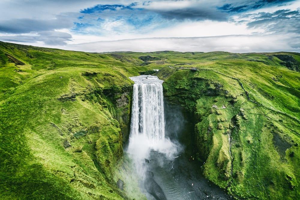Islandský vodopád