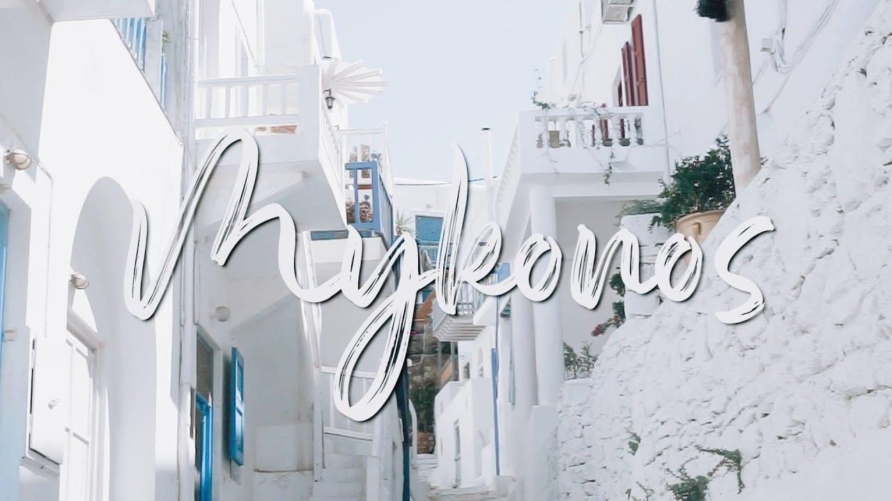 Řecký ostrov Mykonos, video