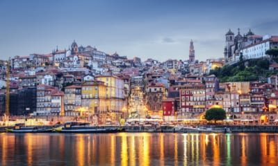 Město Porto v Portugalsku