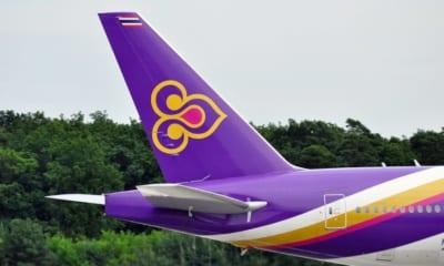 Logo Thai Airways na letadle