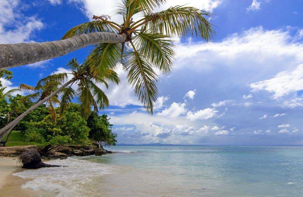 Pláž Caya Levantado v Dominikánské republice