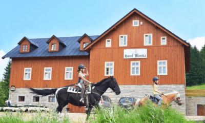 Sauna hotelu Jizerka v Jizerských horách, dovolená